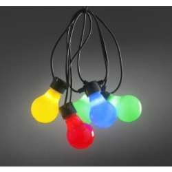 LED feestverlichting met multicolor opaal lampen 4.5m