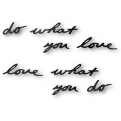Umbra Mantra 'Do what you love' Wanddecoratie