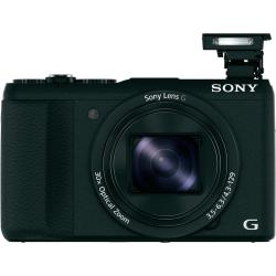 Sony DSC HX60B Digitale camera 20.4 Mpix Zoom optisch 30 x Zwart Full HD video opname WiFi Flitsschoen