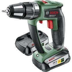 Bosch Home and Garden PSB 18 LI 2 Ergonomic Accuklopboor schroefmachine 18 V 2.5 Ah Li ion Incl. 2 accus Incl. koffer