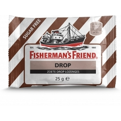 Fishermans Friend Drop Zoete Drop Lozenges Suikervrij Bruin Wit