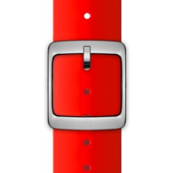 Nokia 4381625 Watch strap Silicone Roestvrijstaal Rood horlogeband